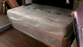 Single divan bed with good quality mattress packaged can deliver