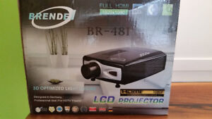 Brendel LCD projector and screen 1080p