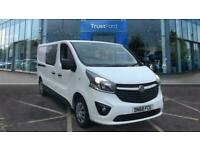 2018 Vauxhall Vivaro 2900 SPORTIVE L2 LWB Double Cab In Van 1.6L 120PS Low Roof,