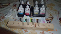 Fish accessories-water test kit,bubbler,sand,rocks,thermometer +