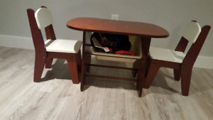 Toddler table and 2 chair set