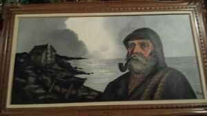 belle grande toile signé RAUCH à vendre
