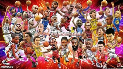 NBA Basketball Photo Poster: NBA GREATS LEGENDS Photo Poster |22 by 36 inch| A ()