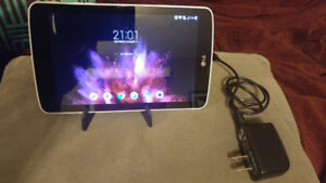 LG Gpad 7.0 LTE Android tablet with charger and stand