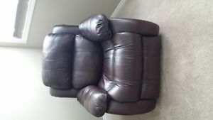 Leather Love seat and recliner chair