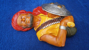 Large Bossons Head PATHAN Chalkware Made In England