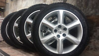 NISSAN MAXIMA MICHELIN WINTER TIRES 245/45/18 ON FACTORY RIMS