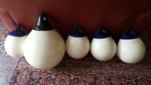 5 Boat (Marine) Round Fenders (Buoys, Bumpers)
