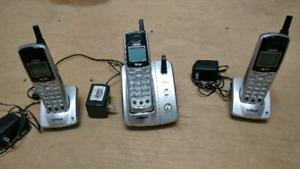 3 téléphones sans fil 5.8GH Vtech