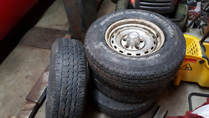 Set of 5 bolt chevy ralleys With bf Goodrich tires  350 obo