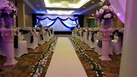 Weddings, events decoration service, reception backdrops