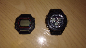 2 watches, need batteries and straps