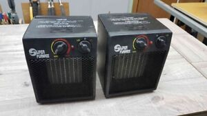 Pair of portable 1500W electric heaters