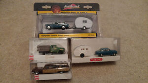 HO Scale Vehicles 2 Campers 2 Cars