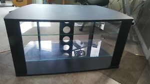 TV Stand - Black - with 3 glass shelves. $75 or BO