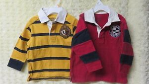 2 Boys Toddler Baby Gap Golf Polo Tops Size 3 Years