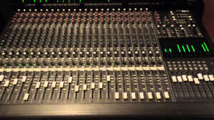 MACKIE 24C 8 BUS MIXER (PARTS ONLY) + POWER SUPPLY (WORKING)