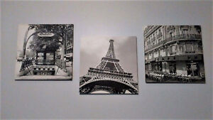 3 - Vibrant Black and White City Canvas'