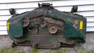 54 inch yard man mower deck and rest of tractor. 25 hp motor