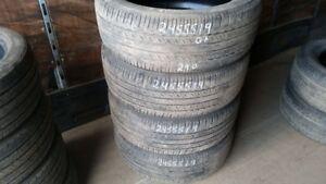 Set of 4 Bridgestone Dueler HL 400 245/55R19 tires (55% tread li