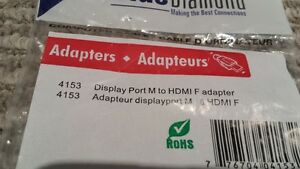 Didplay port M to HDMI F adapter for sale