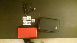 Red 3DS XL + Games