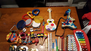 Assorted musical instruments for kids