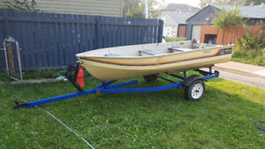 12' Aluminum boat and trailer $1350