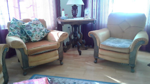 Antique chairs and couch   by Kroeler Co.