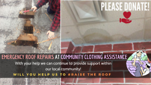 Please Donate! Emergency Roof Repairs at CCA!