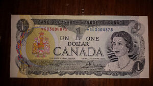 1973 Replacement 1$ note. Mint Cornwall Ontario image 1
