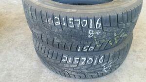Pair of 2 Kumho Izen KW31 215/70R16 WINTER tires (75% tread life