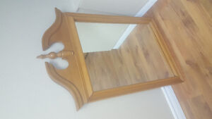Solid wood, roxton furniture mirror- very good condition