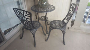 Iron Patio Set - Table + 2 Chairs - FOR SALE