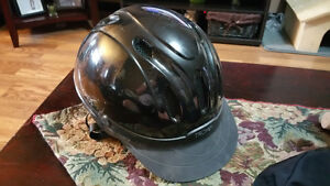 horse back riding helmet and cover