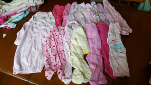0-3months & 3-6 months baby girl sleepers