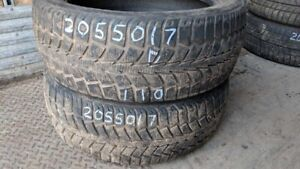 Pair of 2 Uniroyal Tiger Paw IceSnow II 205/50R17 WINTER tires (