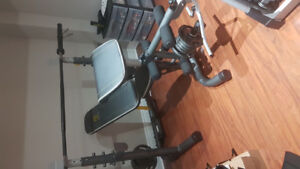 Weight set with bench