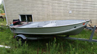 12 ft aluminum boat with 9.9 outboard