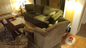 Sofa and Chair Set - Nature Green
