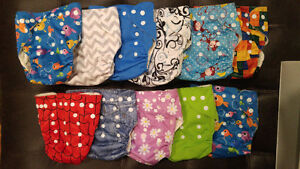 11 bamboo cloth diapers & inserts