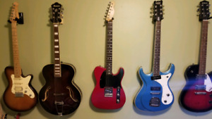 Selection of guitars for sale