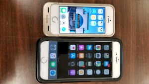 2 nearly new iPhones in great condition. Come with accessories.
