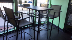 IKEA Brand new patio bar height table set with 4 chairs