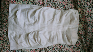 MED white strapless dress