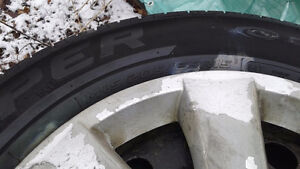 """15"""" all season tires/rims only used part of the summer last year"""