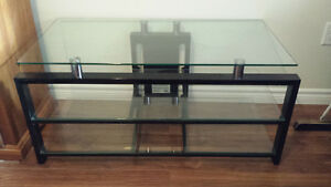 "3 shelf glass TV stand-good for up to 40"" TV"