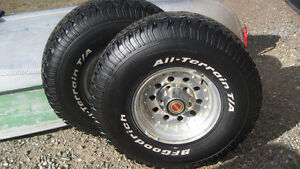 """33"""" BF Goodrich All-terrain tires on rims- used"""
