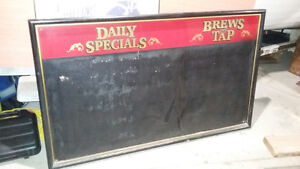 Vintage large bar menu board
