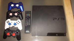 PS3 (160GB) + 30 Games, 4 Controllers, Remote